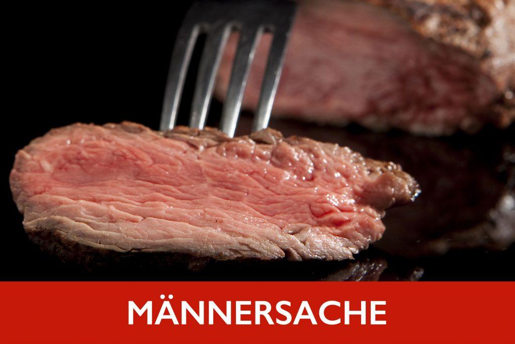 Viel Fleisch für echte Grillfans: Flanksteak, Angus Steak, Rib-Eye, T-Bone, Hüftsteak - mit leckeren Beilagen